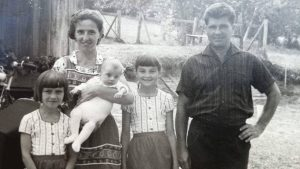 Familie Pomper im Jahr 1967: Tochter Edith, Mutter Rosa, Sohn Reinhard, Tochter Waltraud und Vater Karl Pomper